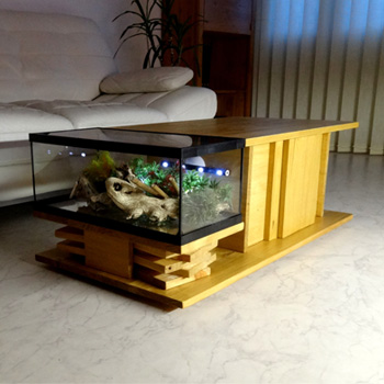 Aquarium-table